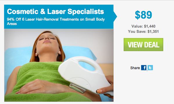 Bikini season is here and thankfully laser hair removal is going on sale ...