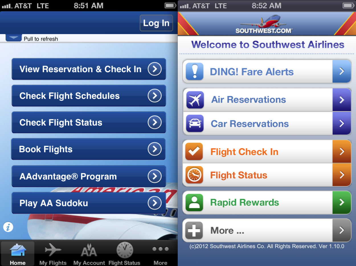 southwest airlines reservations