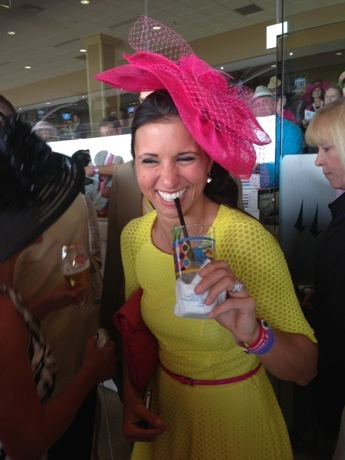 Girl at Kentucky Derby Hat
