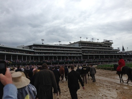 Kentucky Derby walk 2013