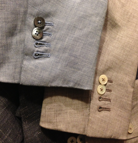 Suit button holes