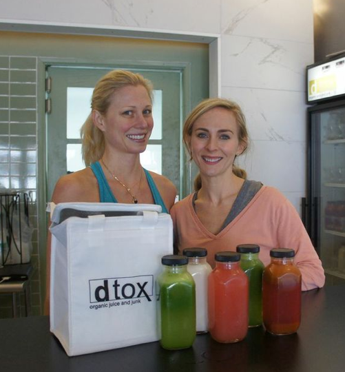 Mary Rambin and Shannon from dtox juice