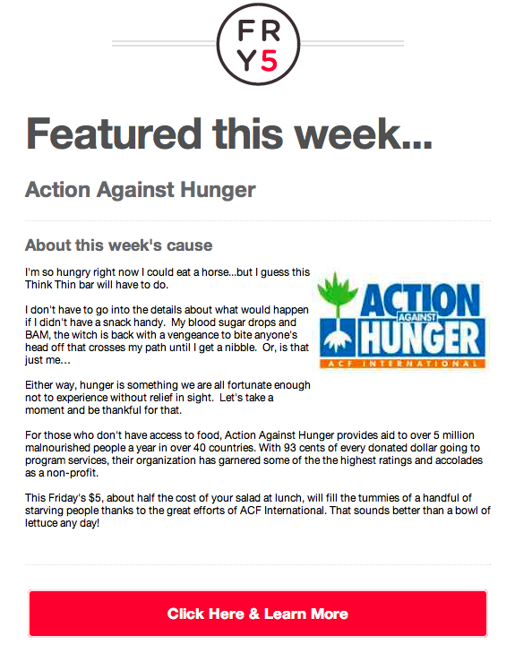Friday5 Action Against Hunger