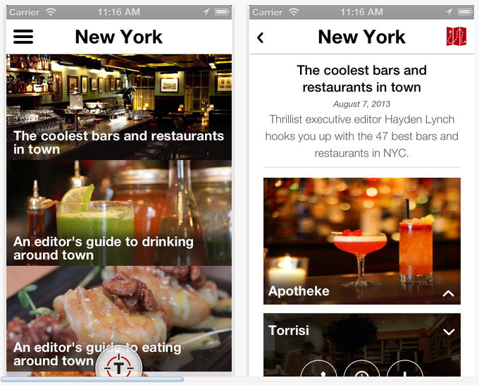Thrillist iPhone App