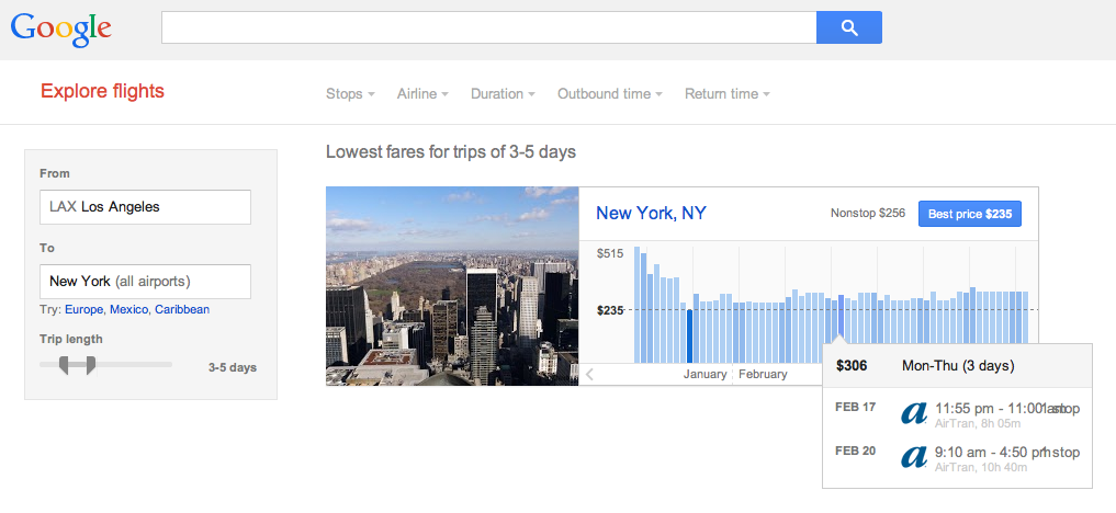 Google.com/flights/explore