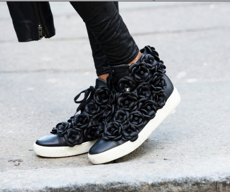 Chanel high tops black