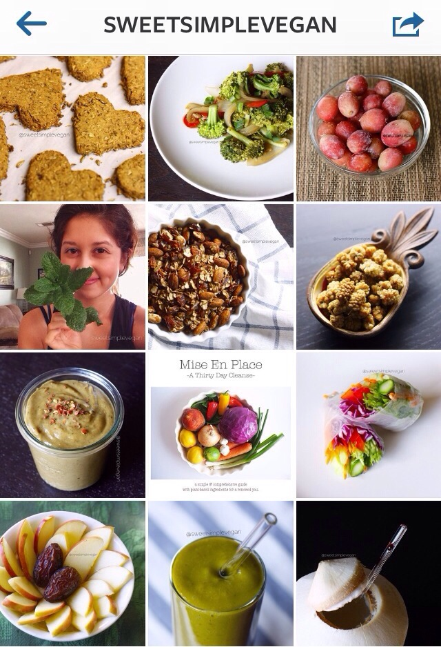sweetsimplevegan instagram