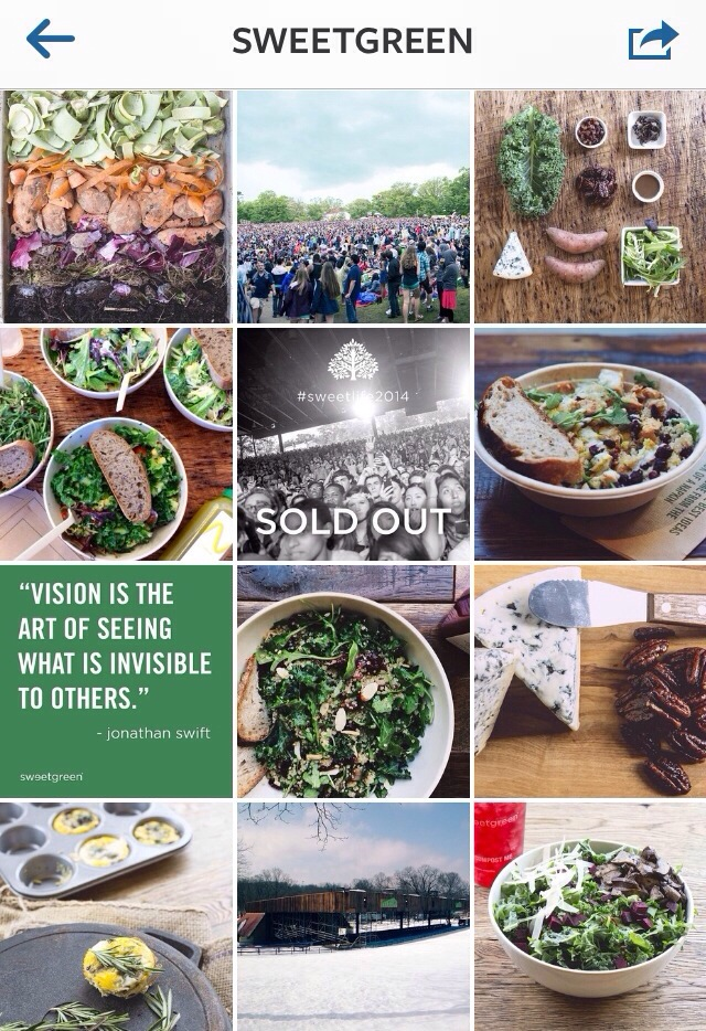 sweet green instagram