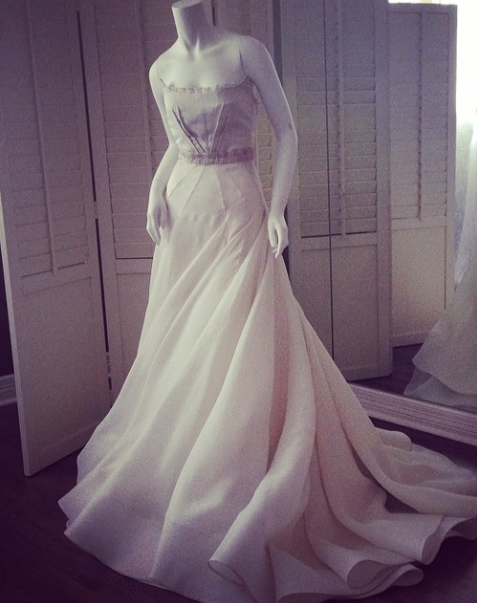 David Peck Wedding Gown 2014