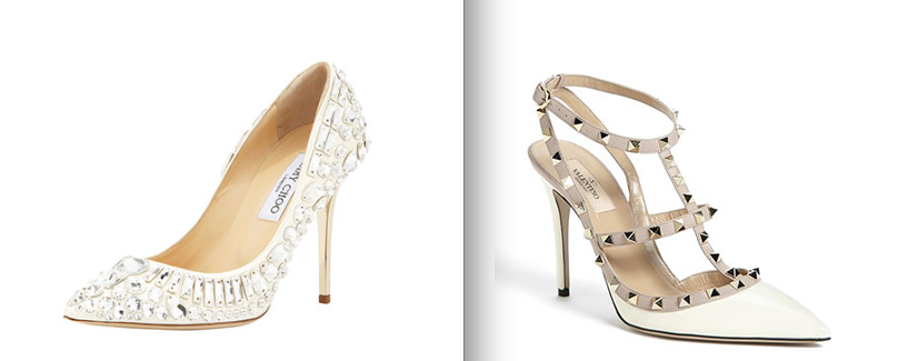 Jimmy Choo and Valentino Wedding shoes