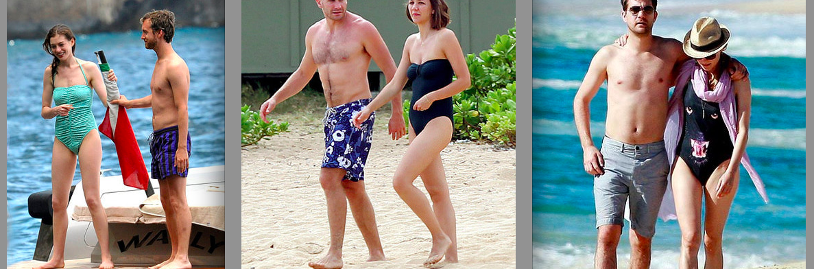 Celebrities in one piece bathing suits