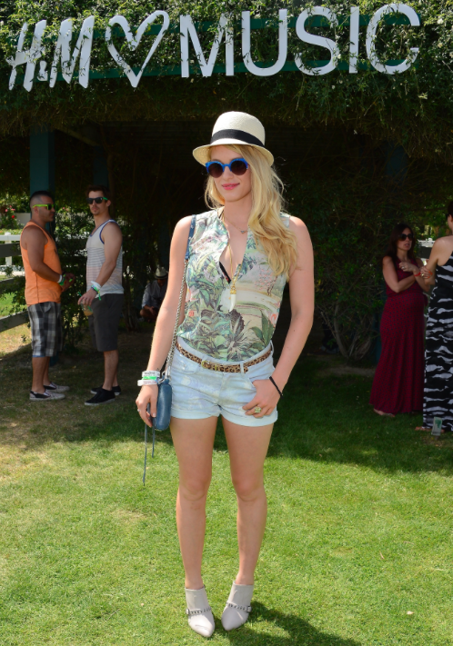 Leven Rambin in Wildfox sunglasses