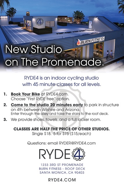 RYDE4 cycling studio information